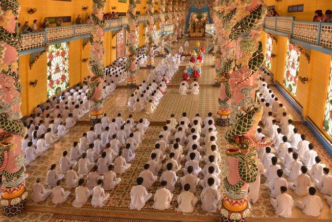 Tay Ninh, temple Cao Dai - Vietnam