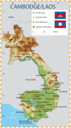 Carte Cambodge- Tangka voyages