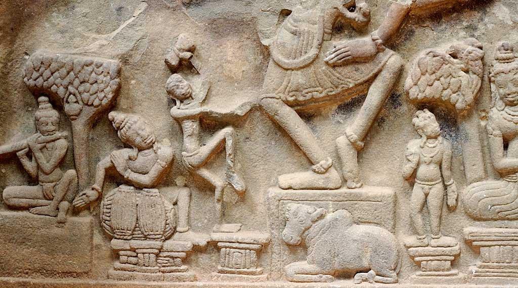 Bas-relief, temple de My Son - Vietnam