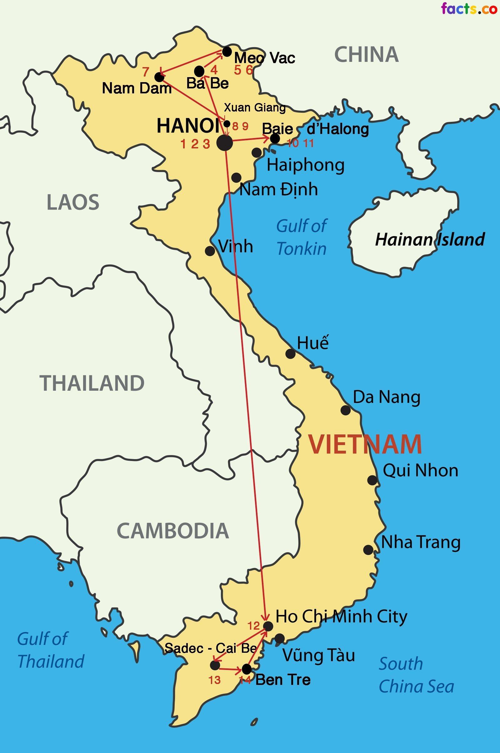 Circuit Vietnam, carte en cours de réalisation