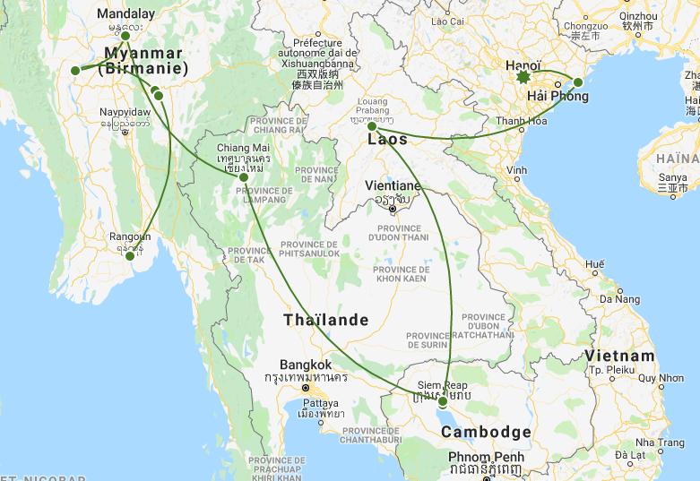 Itinéraire Circuit Joyaux d'Asie