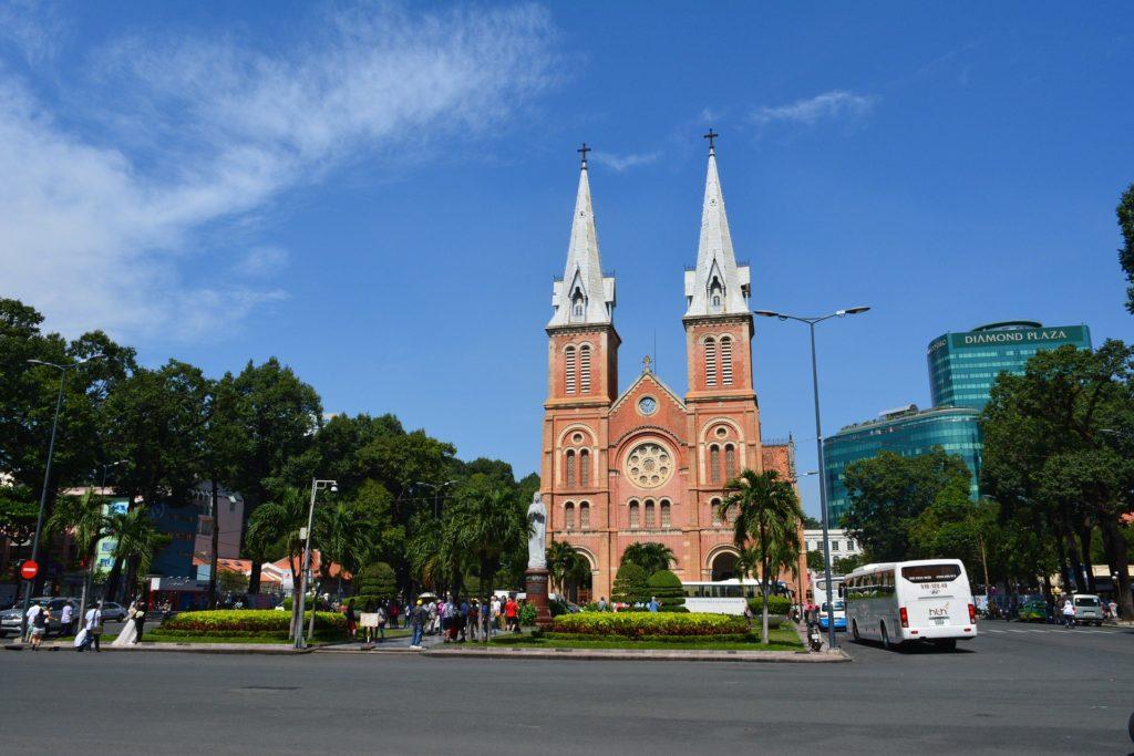 Ho Chi Minh-Ville, cathédrale - Vietnam